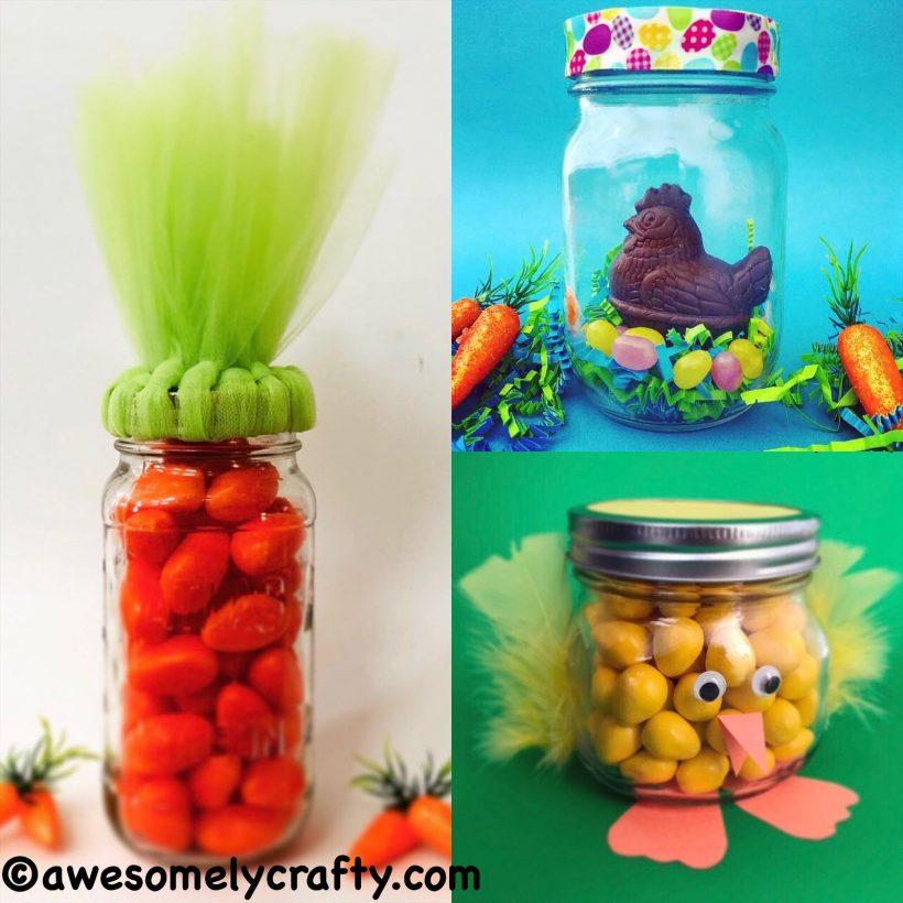 3 Fun Diy Easter Mason Jar Ideas Awesomelycrafty